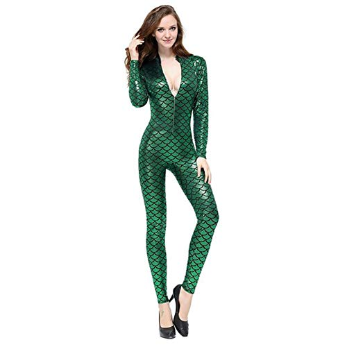 ' Maniche Abito Scala Lattice Purple S Dragon A Calzamaglia Costume Women Similpelle Fish Tuta In Dance In Lattice Discoteca Lunghe CWZJ Pelle Lungo Frontale Green Cerniera 5wPBzxqq