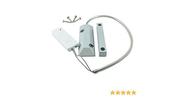 Sensor Magnético para garajes Wifi para – Sensor seguridad de contacto para puertas y ventanas Wireless frecuencia MHz Color blanco: Amazon.es: Industria, empresas y ciencia