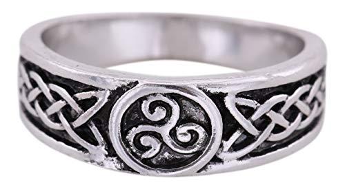 VASSAGO Vintage Talisman Nordic Viking Irish Celtic Knot Triskelion Triskele Party Ring Size 7.5 - Irish Celtic Triskele