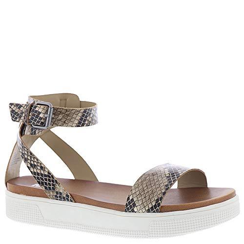(MIA Women's Ellen Flat Sandal, Beige, 7 M US)