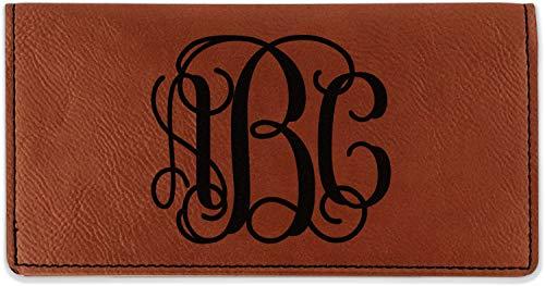 (Monogram Leatherette Checkbook Holder - Single Sided (Personalized))
