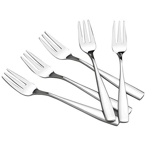 (HOMMP 16 Pieces Stainless Steel 3-tine Dessert Fork, Cake Fruit Fork Set)