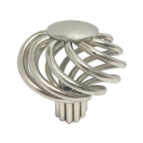 Nickel Satin Twist (5 Pack Satin Nickel or Brushed Nickel Bird Cage Birdcage Birds Nest Twist 1-5/8