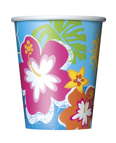 9oz Hula Girl Luau Party Cups, -