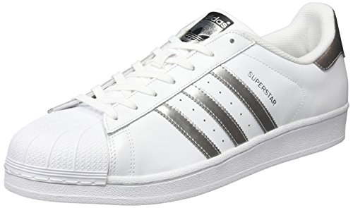Adulte Baskets Silver Black Mode Superstar Ftwr White Core Blanc Mixte Metallic adidas nHgUAA