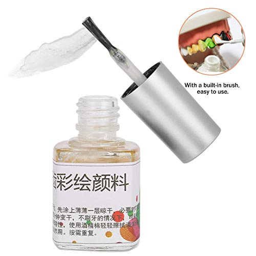 6 Colors 7Ml Colorful Non-Toxic Tooth Colored Drawing Paint Pigment For Halloween Cosplay(White) ()