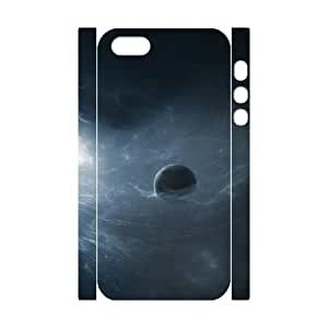 3D IPhone 5,5S Cases One Planet in the Galaxy, IPhone 5,5S Cases Galaxy, [White]