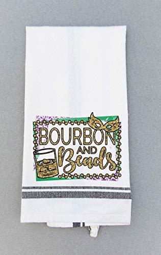 Mardi Gras Kitchen Dish Towel - Bourbon And Beads Tea Towel
