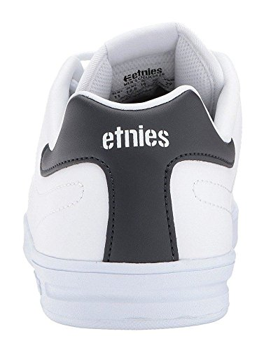 Etnies Callicut LS Blanco Armada Hombres Cuero Skate Trainers