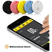 Bluetooth iOS and Android free App Anti-lost/Theft device Key finders with location and audable alarm ( Pink )