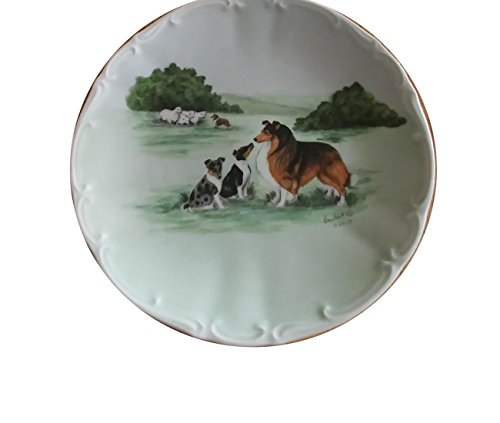 Collectible Plate #169/1000 Barnhart Studios Bareuther Waldsassen Bavaria Collector Sheep Dog Lassie Farm Vintage (Bareuther Mothers Day Plate)