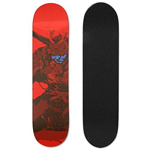 Abec 7 Japan Ball (Samurai Japan Vogue Double Warped Skateboard Deluxe Longboard Skate Boards)
