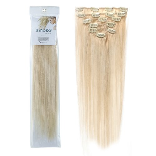 Emosa 100% Real Human Hair Remy Hair Extensions - Blonde Human Hair Extensions 60