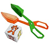 Skoolzy Toddler Toys Fine Motor Tools Set - Scoop Tongs and Color Bear Dice | Learning & Educational Montessori Manipulative Toys