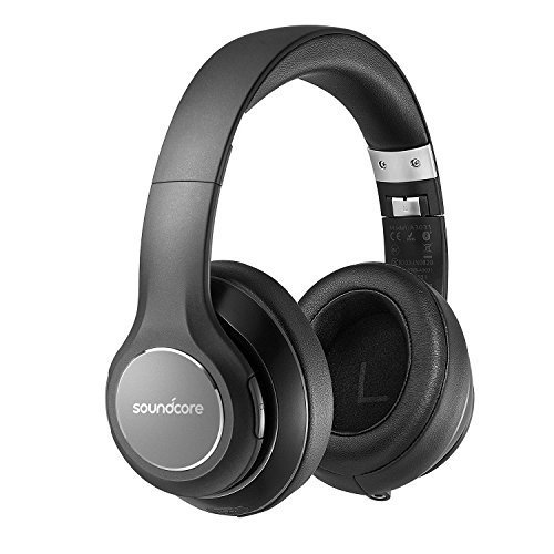 Soundcore Vortex Wireless Over-Ear Headphones by Anker, with 20-Hour Playtime, Bluetooth 4.1, Hi-Fi Stereo Sound, Soft Memory-Foam Ear Cups, Built-in Mic and Wired Mode