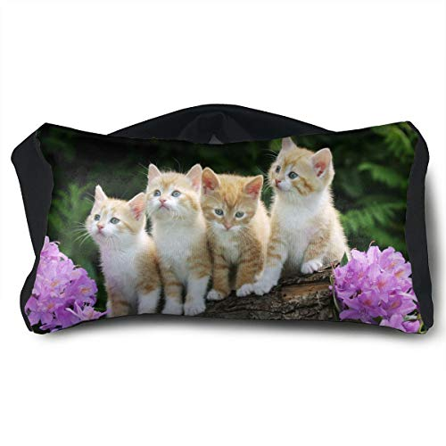 Cats Animal Voyage Pillow and Eye Mask Travel Sleep Pillow Neck Support Pillows by PO1 UP