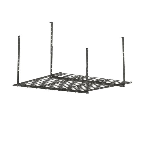 HyLoft 00625 45-Inch by 45-Inch Overhead Storage System, Ceiling Mount Garage Organization Rack,...
