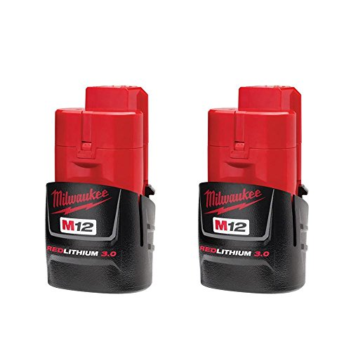 Milwaukee Electric Tool 48-11-2430 M12 Red lithium 3.0 Compact Battery Pack, 3.375 '' x  1.875 '' x  1.75'' by Milwaukee Electric Tool (Image #1)