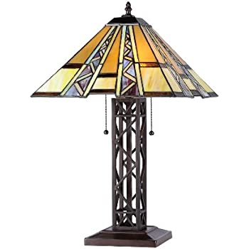 Tiffany style stained glass table lamp aspen mission amazon chloe lighting ch33226mi14 tl2 progressive tiffany style mission 2 light table lamp aloadofball Gallery