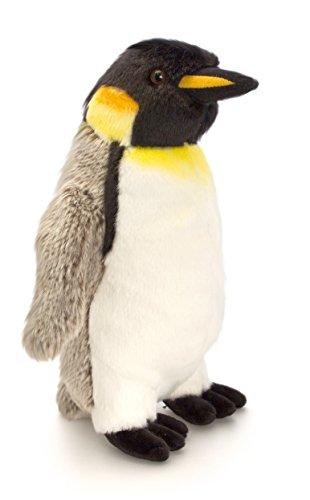 Keel Toys Plüschtier Kaiser Pinguin, grau - weißes Kuscheltier, Vogel ca. 20 cm im Set mit Bodybutter Kirsche - Johannisbeere, 7ml