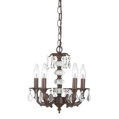 - Jubilee Collection 7037 5 Arm Stacked Glass Ball Chandelier, White