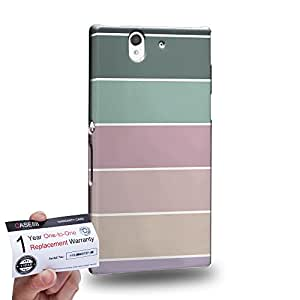Case88 [Sony Xperia Z] 3D impresa Carcasa/Funda dura para & Tarjeta de garantía - Art Coloured Doodle Patterns Pastel Palette