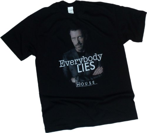 """Price comparison product image """"Everybody Lies"""" -- NBC's House M.D. Youth T-Shirt, Youth Medium"""