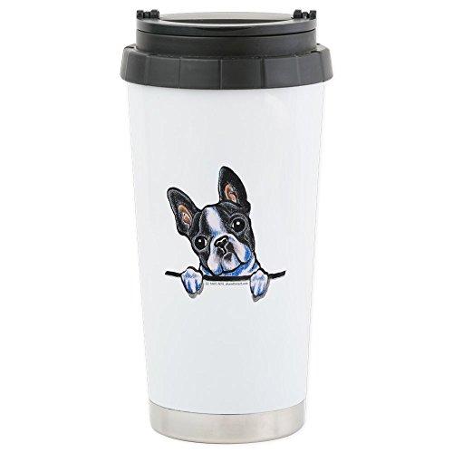 CafePress - Curious Boston Stainless Steel Travel Mug - Stainless Steel Travel Mug, Insulated 16 oz. Coffee Tumbler