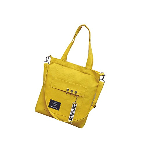 negro 5cm mujer 35 de Amarillo lona 33 Bolso reticulado bandolera para Evmho diseño xPBZnn