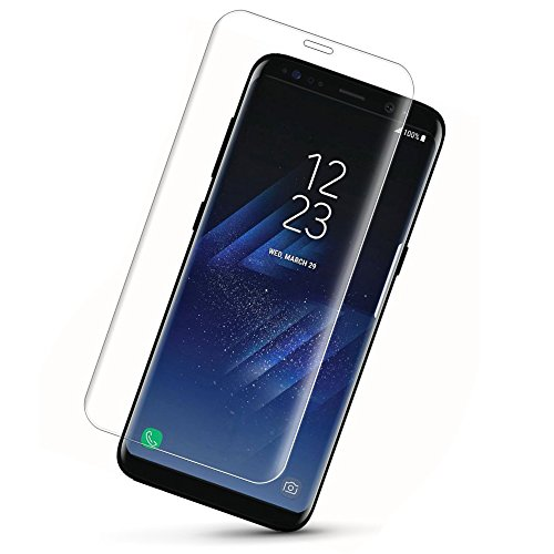 Price comparison product image Galaxy S8 Plus Tempered Glass Screen Protector, Monez Full Coverage [Anti-Scratch] [HD Clear Protective Film] Screen Protector for Samsung Galaxy S8 Plus