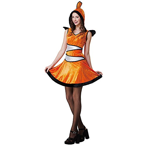 Totally Ghoul Clown Fish Costume, Adult Woman, one