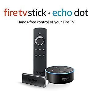 Fire TV Stick with Alexa Voice Remote + Echo Dot Amazon Alexa Anniversary