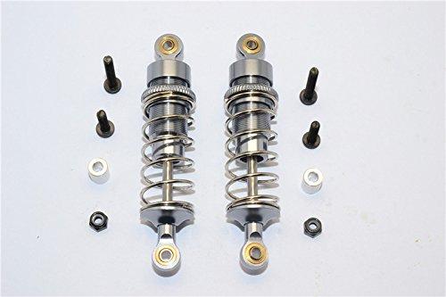 Team Losi Mini 8ight-T Truggy Upgrade Parts Aluminum Rear Adjustable Spring Damper (72mm) - 1Pr Set Gray Silver ()