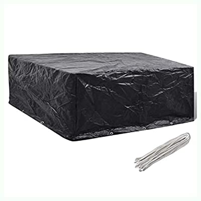"""K&A Company Garden Furniture Cover 10 Eyelets 102"""" x 102"""" x 35"""""""