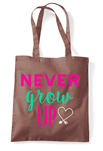 Up Grow Never Chestnut Tote Bag Shopper THC5qx