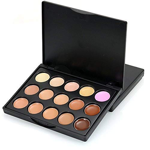 - Professional Matte Nude Camouflage Concealer Palette Face Cream Contour Highlight Makeup Kit Multi Purpose Pressed Smooth Siky Powder Cosmetic Tool Barhalk,15 Colors (2#)