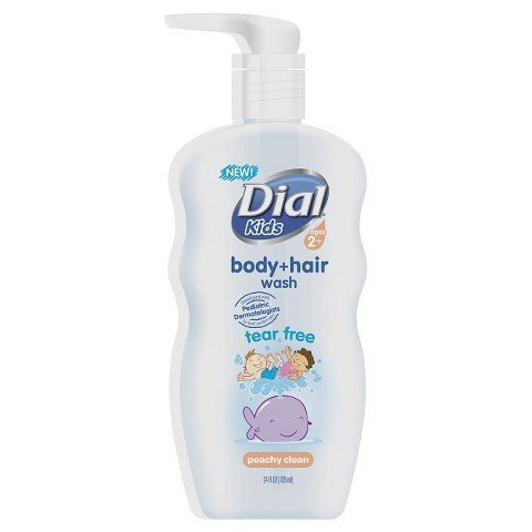 Peach Body Shampoo (Dial Peach Body and Hair Wash for Kids - 24 oz)
