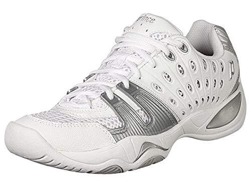 Prince Women's T22 Tennis Shoe,White/Silver,6.5 M US