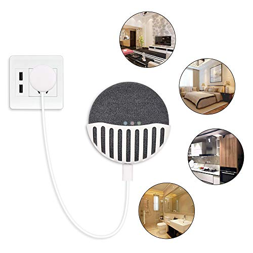 Price comparison product image Euone  Google Holder Clearance , Kitchen Bedroom Wall Mount Holder Hanger Stand Grip for Google Home Mini