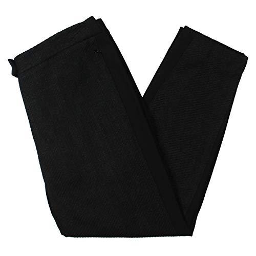 Escada Womens Tweed High Rise Ankle Pants Black 40