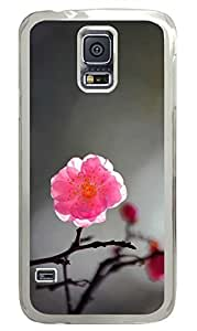 The Plum Blossom 1 PC Transparent Hard Case Cover Skin For Samsung Galaxy S5 I9600