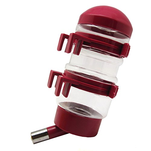 Alfie Pet by Petoga Couture - Hedren Water Bottle for Small Animals - Color: Burgundy
