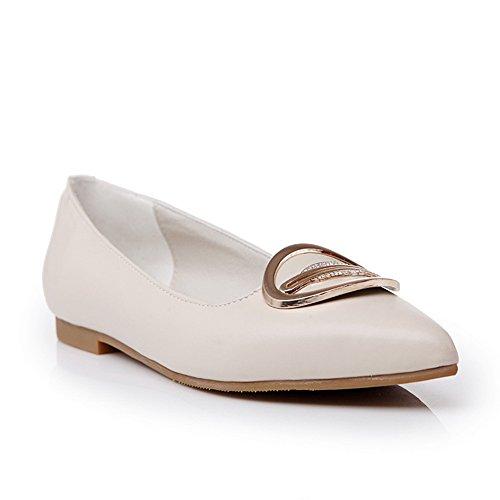 AdeeSu Sdc04776, Sandales Compensées Femme - Beige - Beige, 36.5 EU
