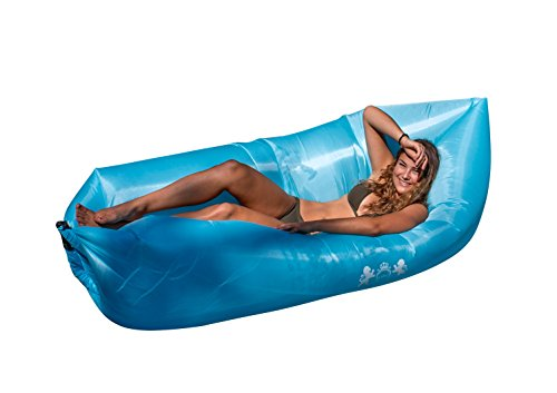 Omni Potent Living Inflatable Hangout Lounger with Carry Bag - Large Chair, Sofa For Beach, Pool or Camping - Indoor, Outdoor Comfort for Kids and Adults - Portable and Lightweight - Fast Inflate