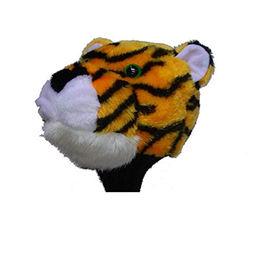 Convenient Cartoon Tiger Styling Putter Headcover Animals Standard Size Decoration Cover Golf Club Cap for No.1 Fairway Wood Durable (Color : As Shown, Size : Free)