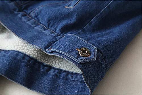 Tempo Tempo Hot Giacca Blu Libero Giacca Ragazze Lunghe Outerwear Donna Donna Donna Jeans Addensare Relaxed Jeans Autunno Donne Base Fashion Bavero Denim Cappotto Battercake Invernali Eleganti Maniche Casuale 58wCFqftnx