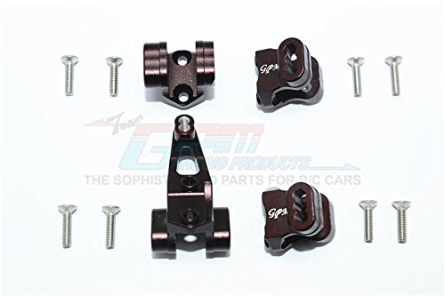 Traxxas TRX4 Trail Defender Crawler Upgrade Parts Aluminum Front Rear Axle Mount Set For Suspension Links  4Pc Set Brown