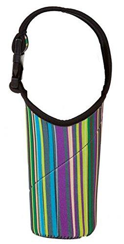(BlenderBottle Insulated Sling, Green Stripes, 28-Ounce)