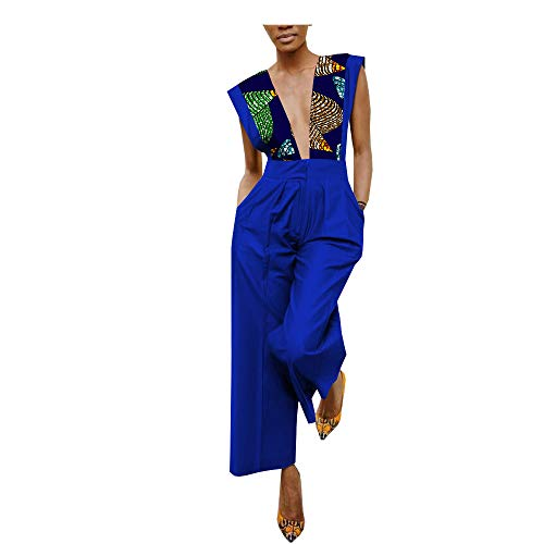 - Private Customized African Jumpsuit for Women Wax Print Clothing Batik Cotton Casual 485 1 XXS