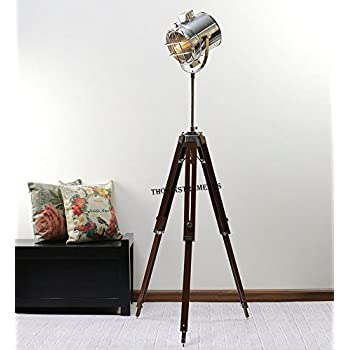 Industrial style vintage movie spot light floor standing tripod lamp industrial style vintage movie spot light floor standing tripod lamp mozeypictures Image collections